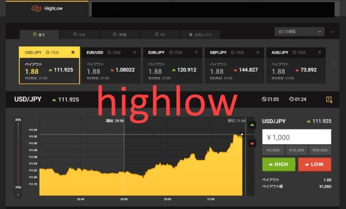 highlow取引